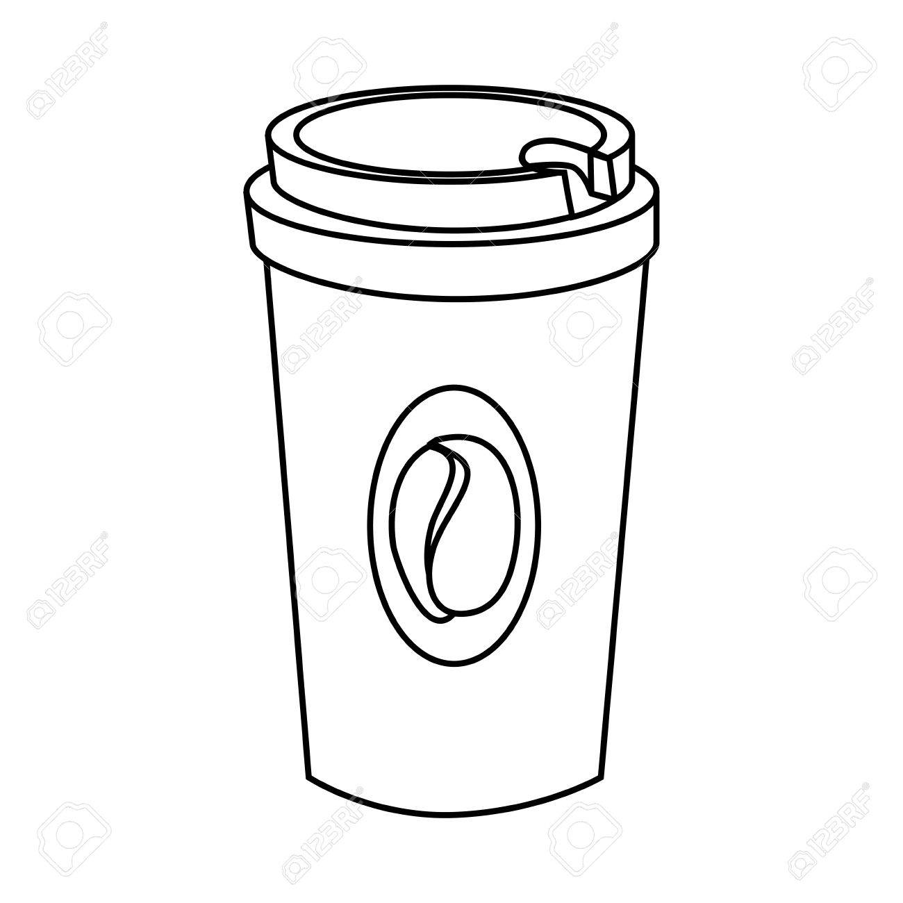 1300x1300 Coffee Drink In Plastic Cup Isolated Flat Icon, Vector