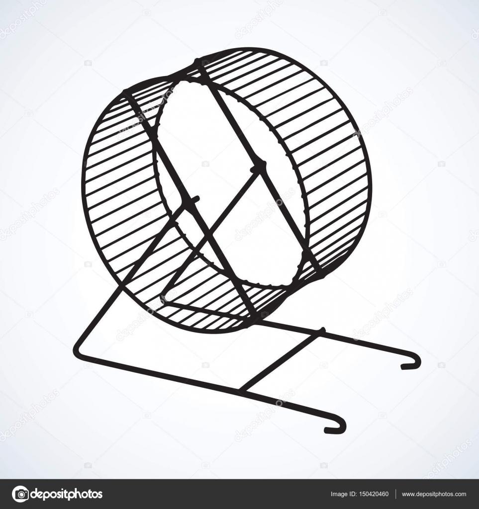 963x1024 Hamster Wheel. Vector Drawing Stock Vector Marinka