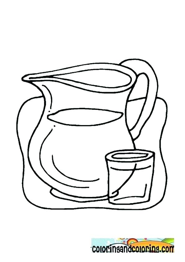 595x842 Water Bottle Coloring Page Surprising Water Bottle Coloring Page