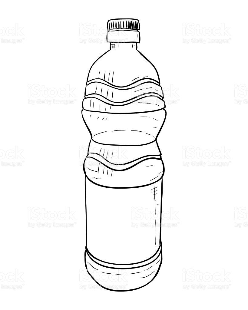 819x1024 Water Bottle Drawing Drawn Bottle Plastic Bottle