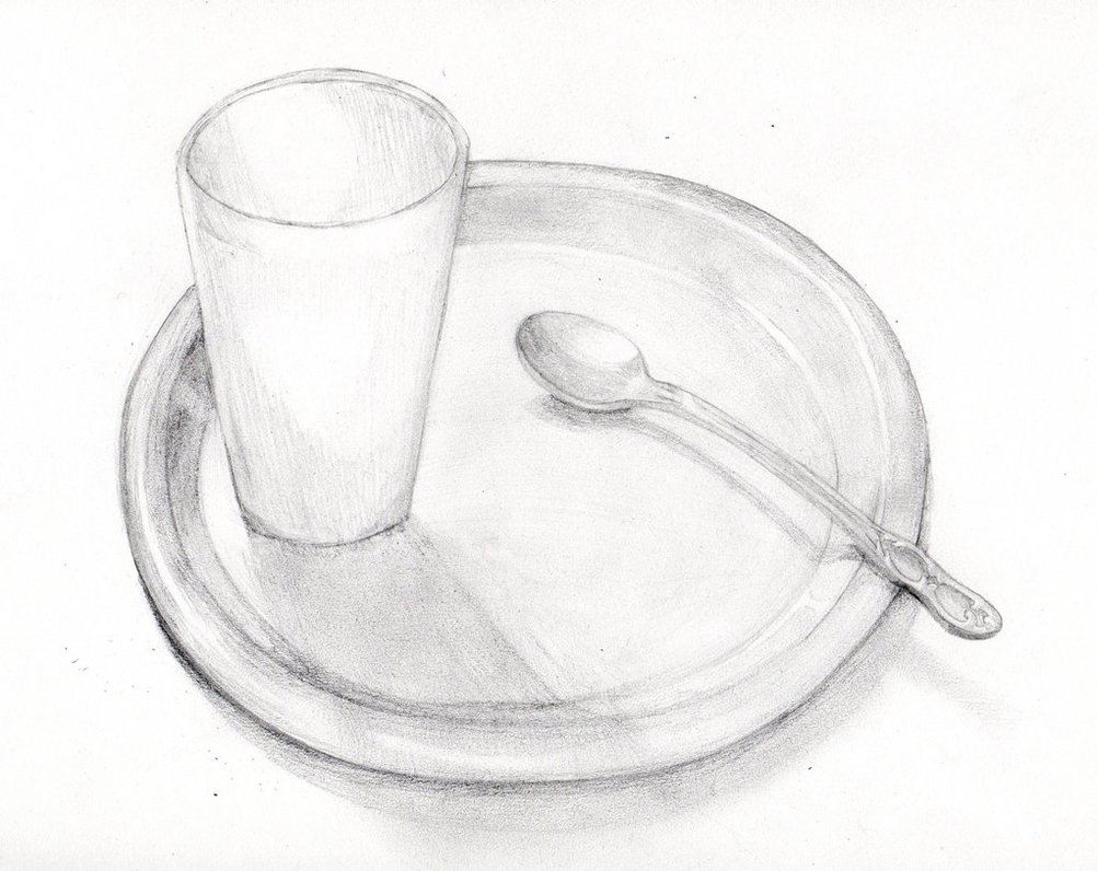 1003x796 A Plate, A Cup, And A Spoon By Scottishkitty