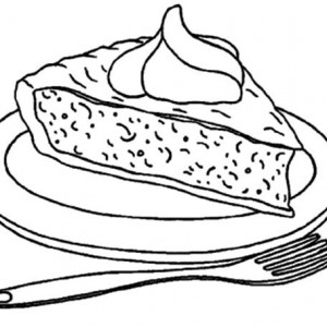 300x300 A Plate Of Pumpkin Cake Slice Coloring Pages Best Place To Color