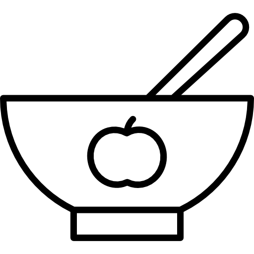 512x512 Baby Plate With Apple Drawing