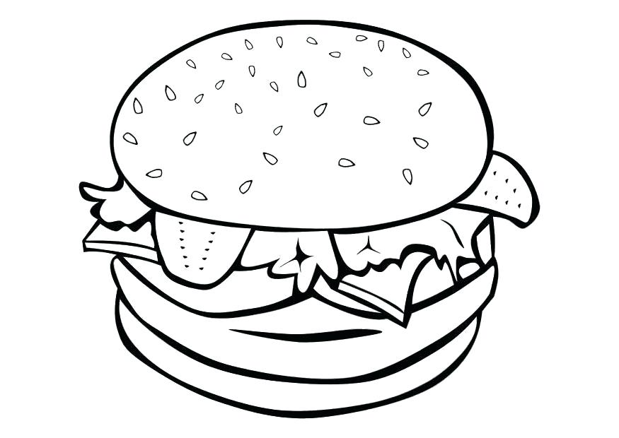 875x620 Coloring Pages Food Food Coloring Pages Hamburger Coloring Pages
