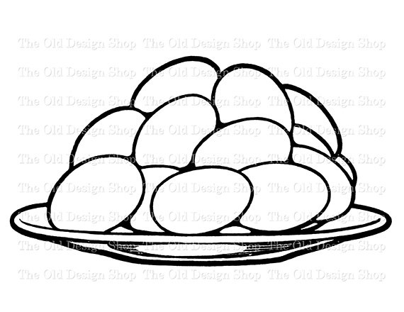570x440 Eggs Stacked On Plate Vintage Food Clip Art By Theolddesignshop