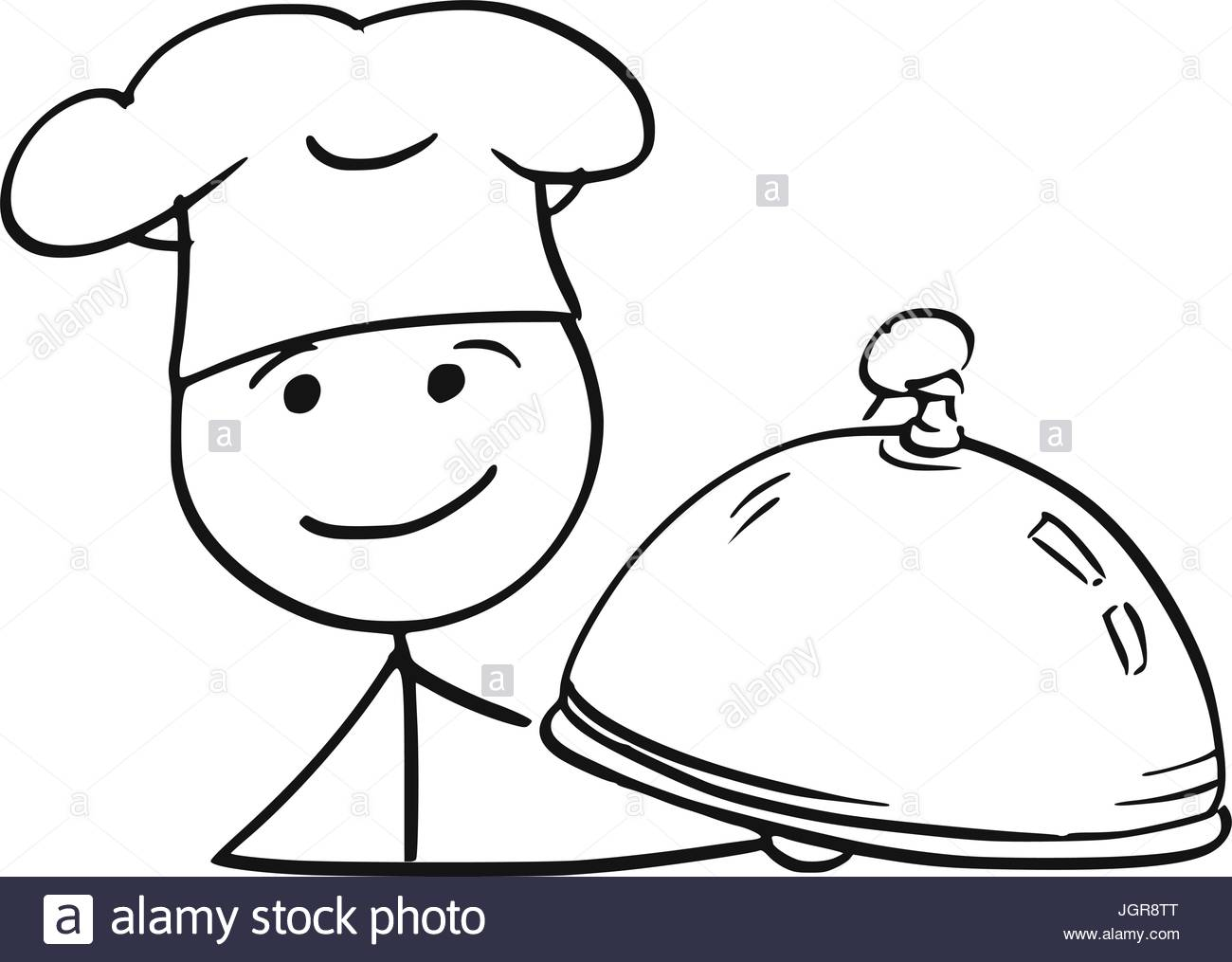 1300x1015 Cartoon Vector Stick Man Stickman Drawing Of Male Cook Chef