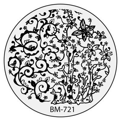 400x400 Circle Nail Stamping Plates B.m.c By Bundle Monster