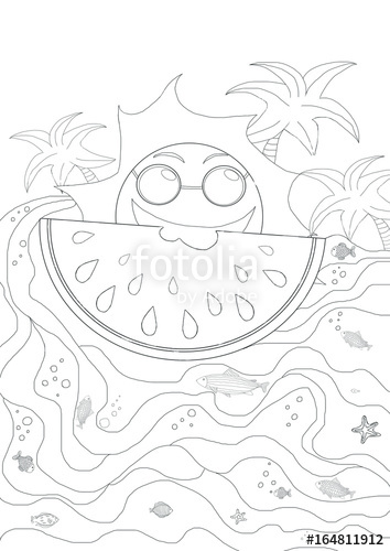 354x500 Drawing Plates For Kids With Sun And Waves And Summer Holiday