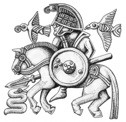 500x484 Sutton Hoo Helmet Plates Technical Drawing