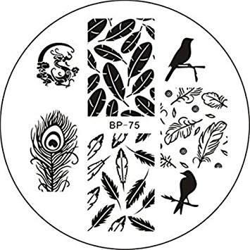 355x355 Born Pretty Nail Stamping Plates Nail Art Plate Birds
