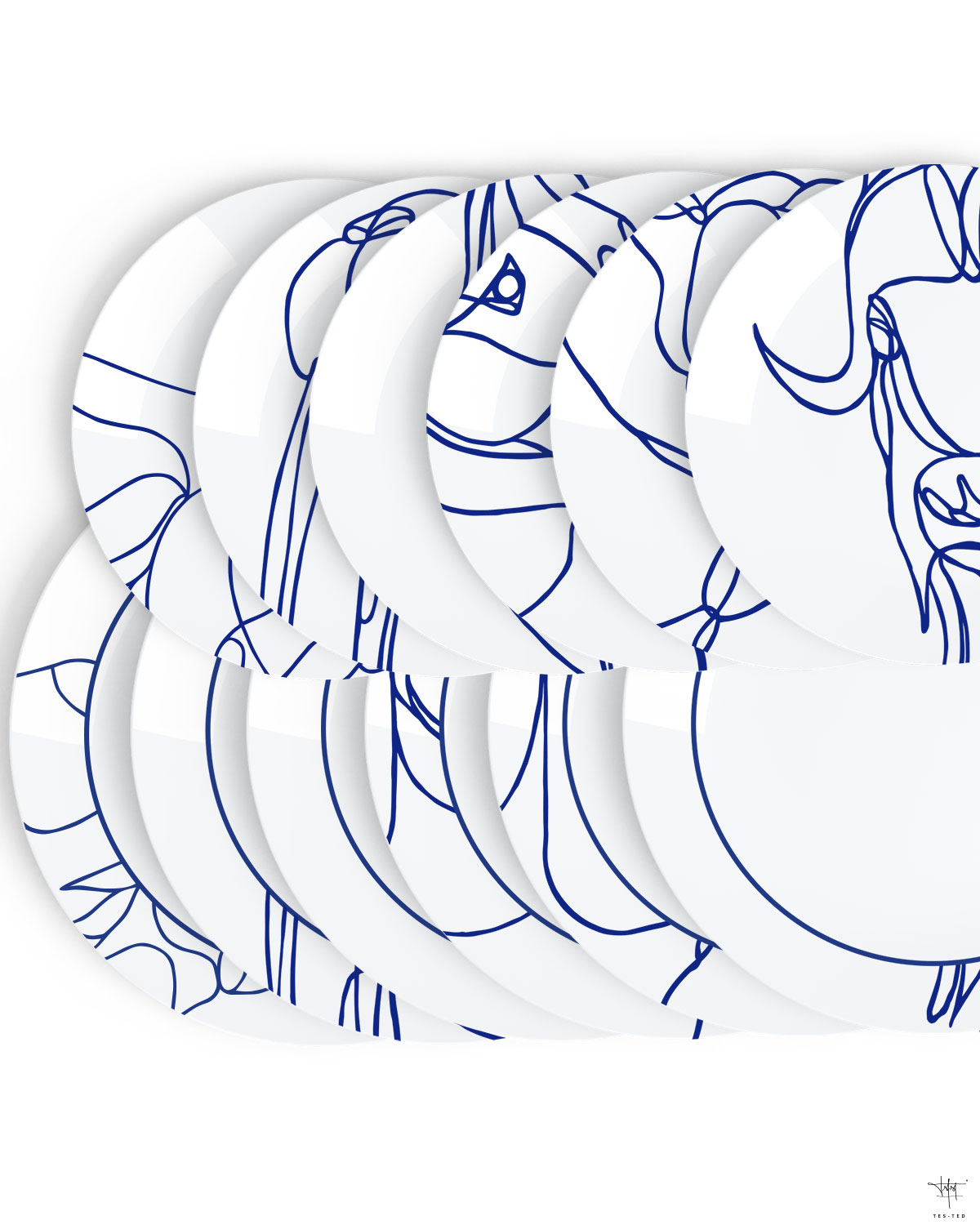 1200x1500 Arctic Beasts Design Porcelain Plate Set By Tes Ted