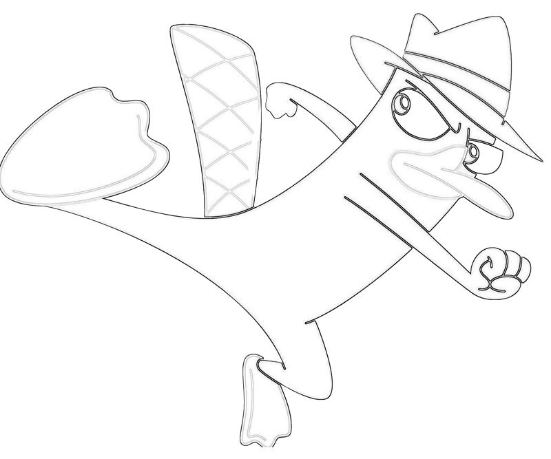800x667 Perry The Platypus Coloring Games Kick Pages
