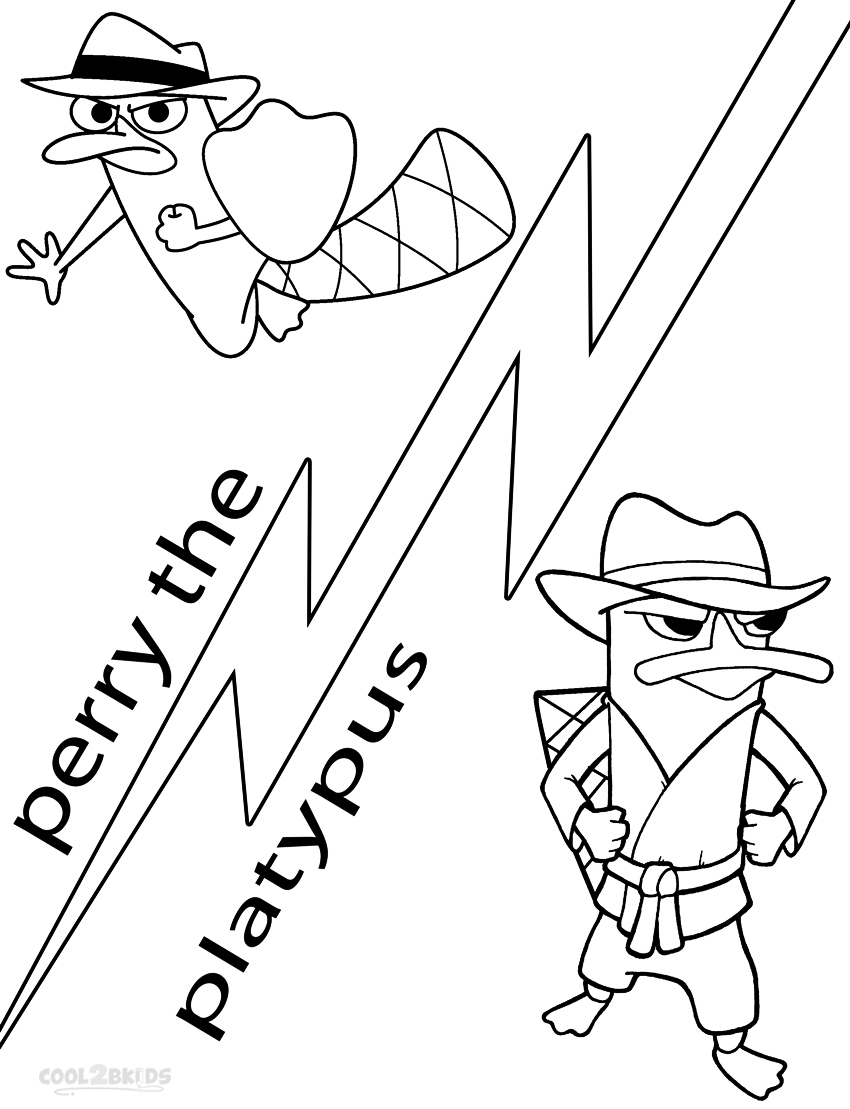 850x1109 Perry The Platypus Drawing Printable Perry The Platypus Coloring