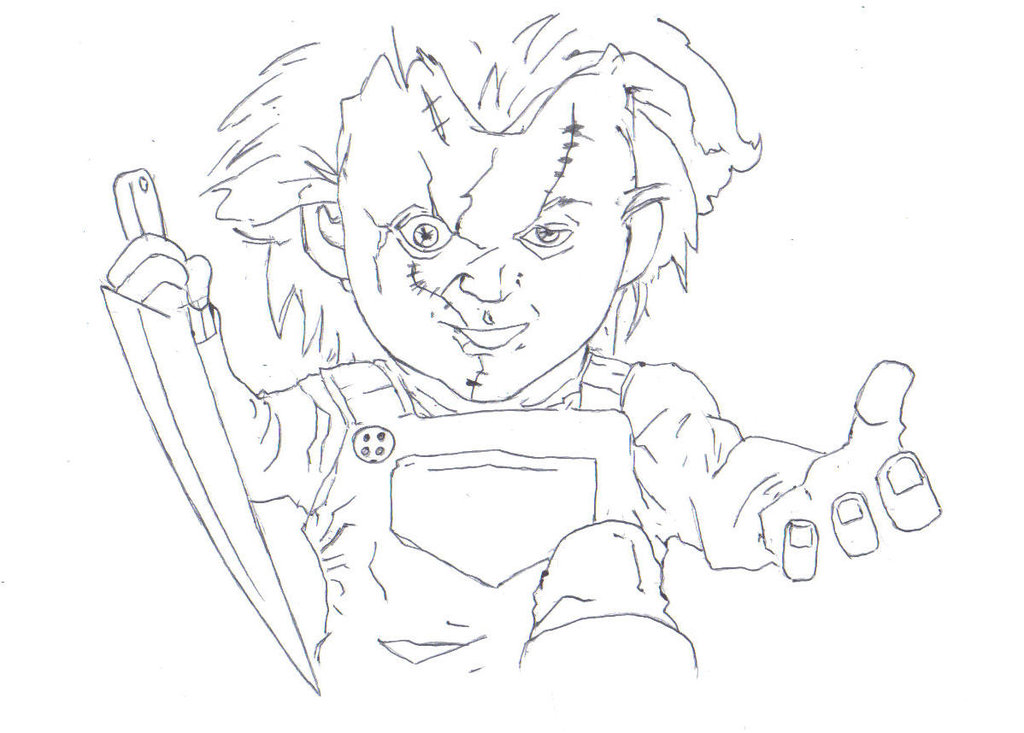 1024x733 Chucky, Child's Play (Halloween Drawing) By Electronicdave