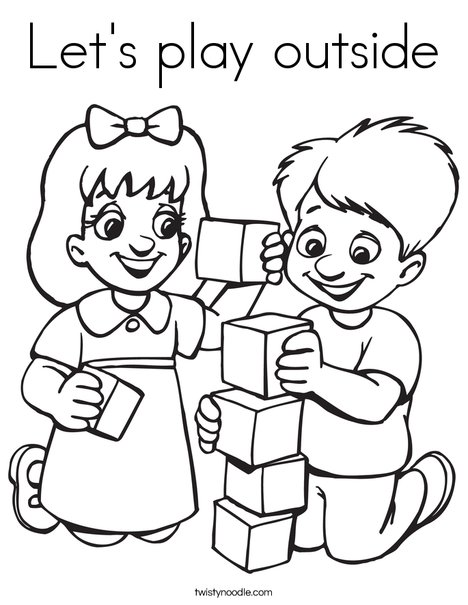 468x605 Let's Play Outside Coloring Page