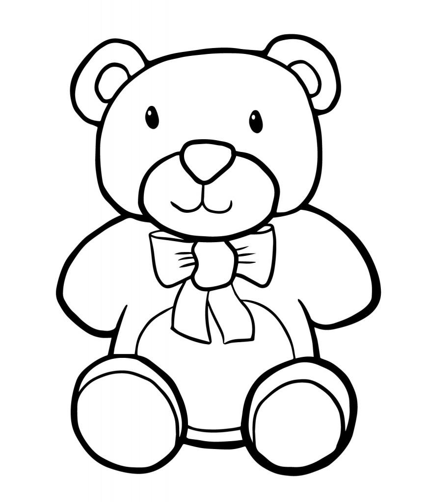 866x1024 Simple Drawing Of Teddy Bear Play Templates Simple Teddy Bears