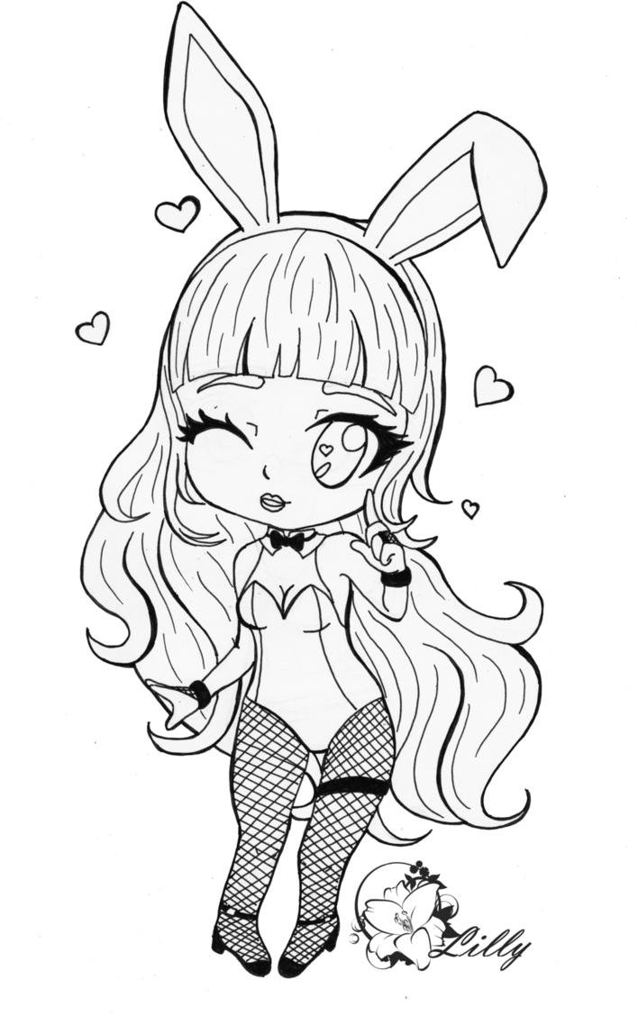 708x1128 Lilly Playboy Bunny ~black And White Ver~ By Redglasseslilly