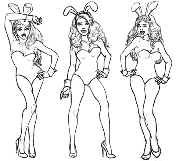 600x528 Playboy Bunny On Behance
