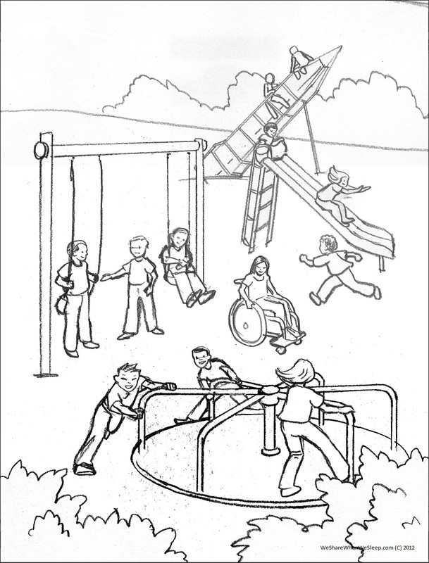609x800 playground coloring pages