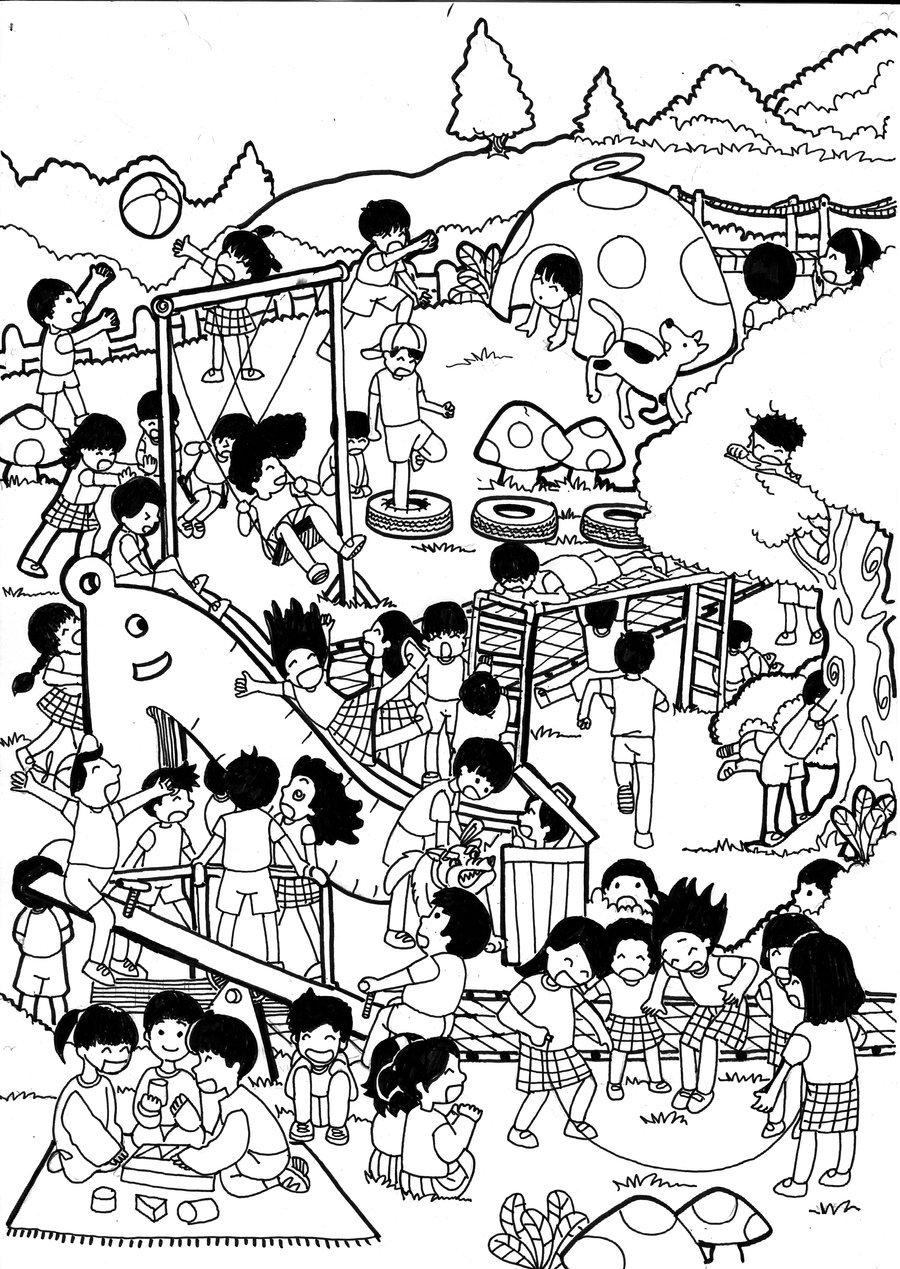 900x1269 Children's Playground By Maelanie