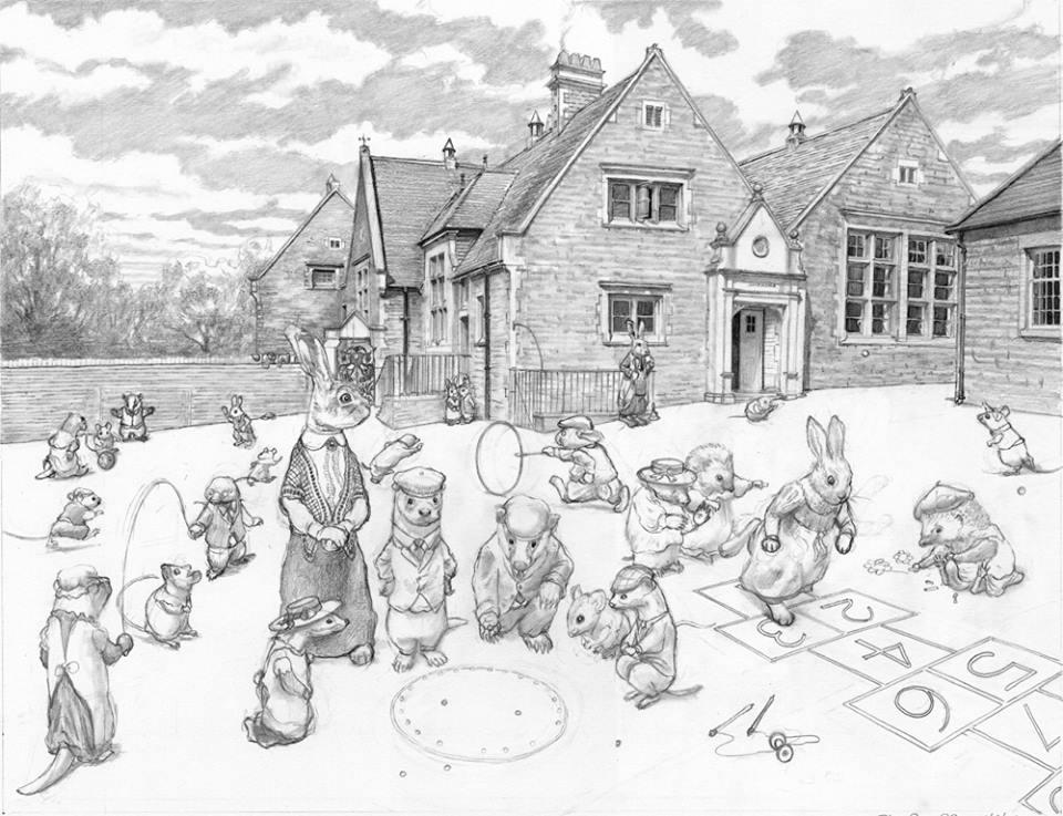 960x737 Chris Dunn Illustrationfine Art School Playground