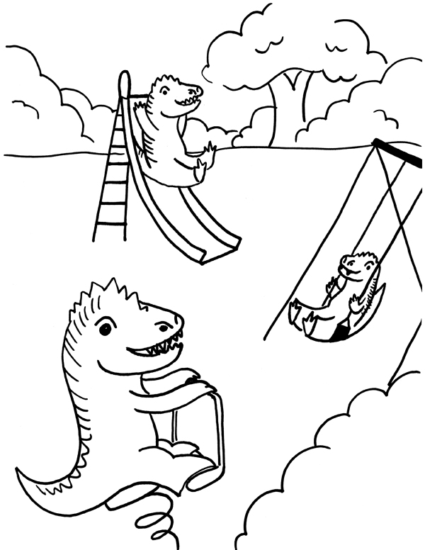 600x776 Playground Coloring Page Fun For The Kiddos Playground