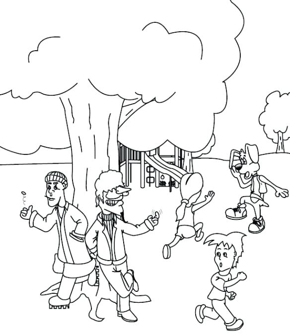 584x677 Playground Coloring Pages