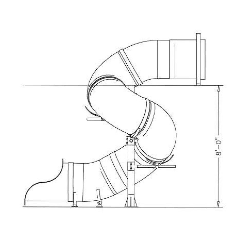 1000x1000 8' Spiral Tube Slide
