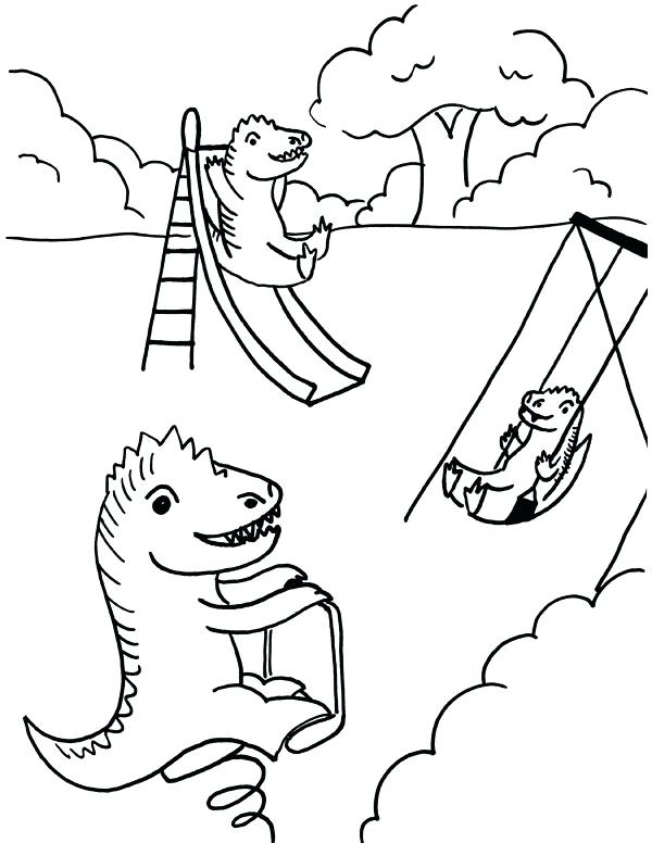 600x776 Playground Coloring Pages Playground Coloring Page Playground