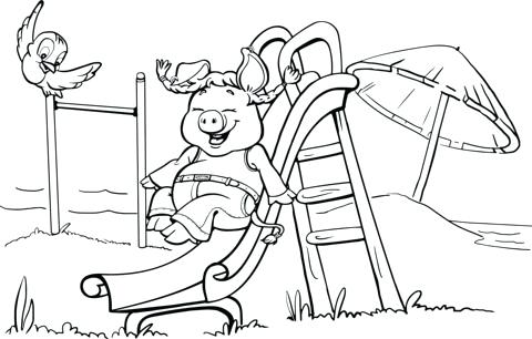 480x306 Playground Coloring Pages Tiger In Playgrounds Coloring Pages