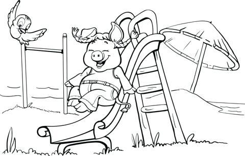 Playground Slide Drawing at GetDrawings   Free download