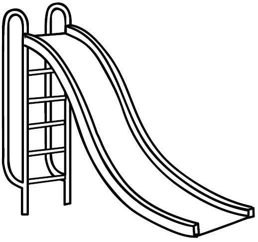 518x485 Playground Slide Coloring Page Coloring Page Playground Teeter