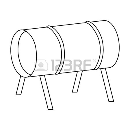 450x450 Playground Slide Icon In Outline Style Isolated On White