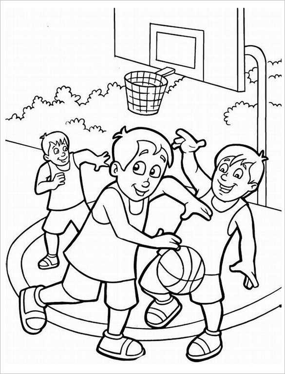 Playing Basketball Drawing