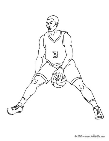 364x470 Basketball Player Dunking Coloring Pages