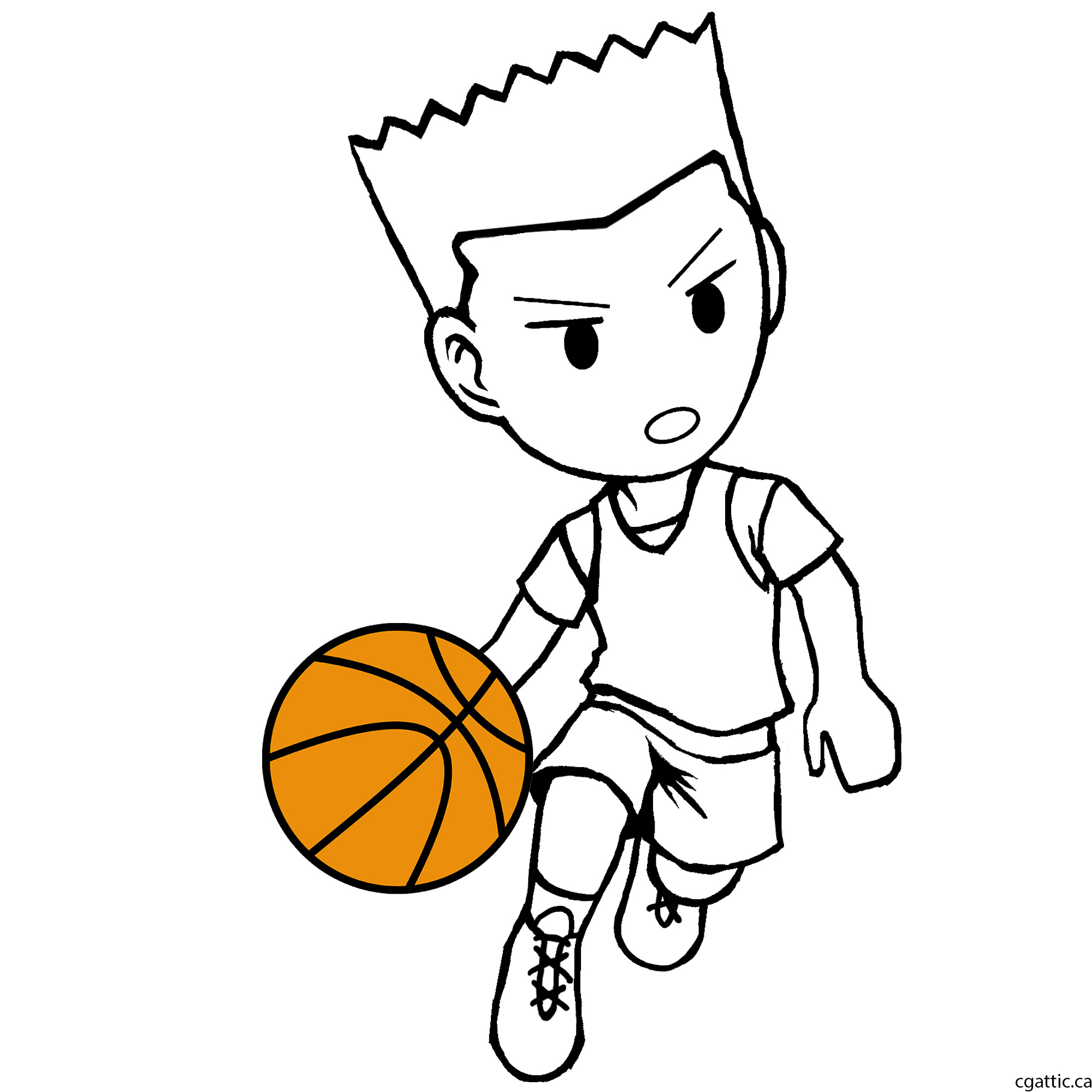 2000x2000 Cartoon Basketball Player Drawing In 4 Steps With Photoshop