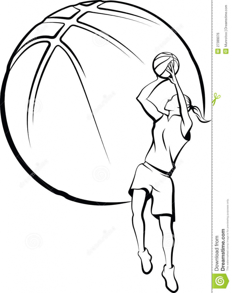 811x1024 Drawing Of A Basketball Player