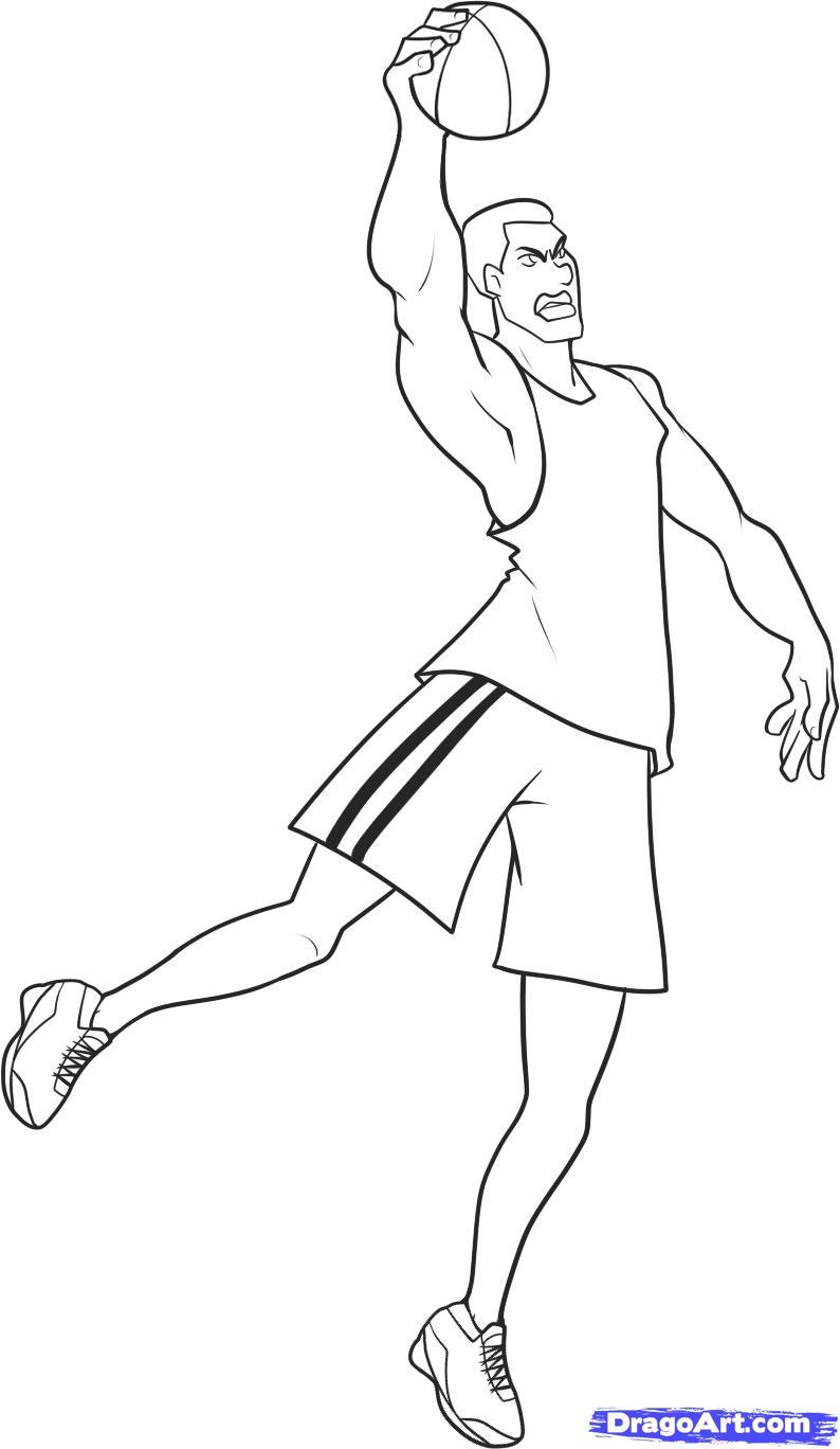 794x1368 Drawings Of Basketball Players