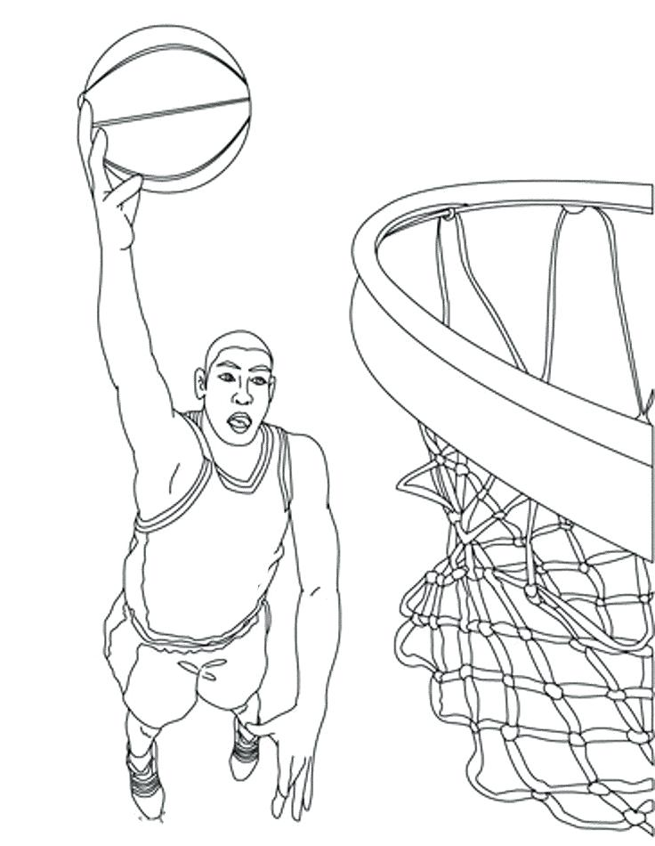 736x950 Lovely Basketball Players Coloring Pages Best Of Sheets Together