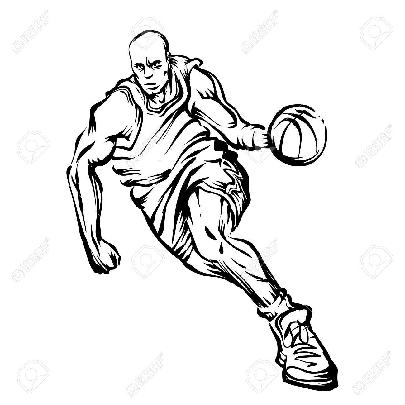 1300x1300 Man Playing Basketball Royalty Free Cliparts, Vectors, And Stock