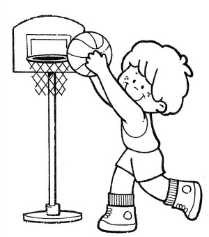 300x340 Playing Basketball Clipart Black And White