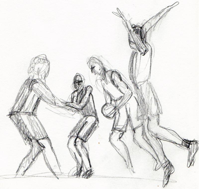 800x761 Sketching The Nba Basketball Finals Jana Bouc, Artist