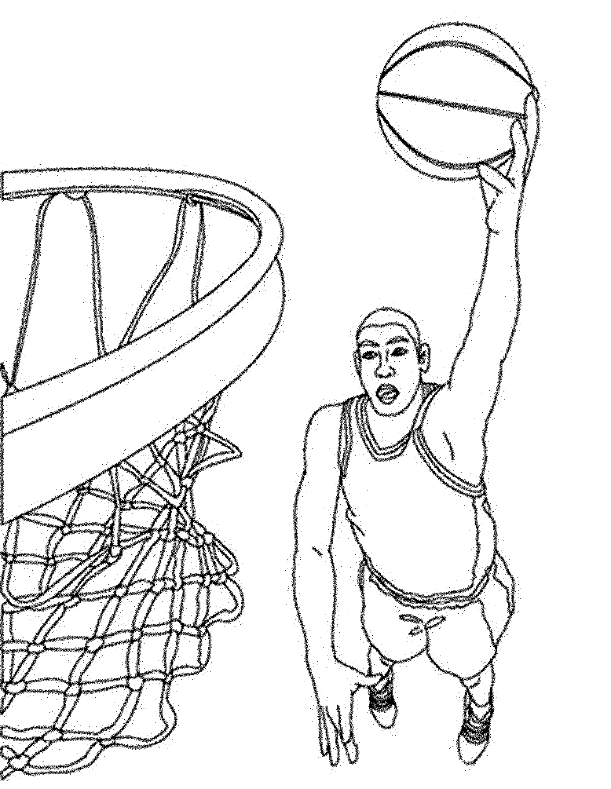 2000x2583 Amazing Basketball Player Dunking Drawings With Basketball