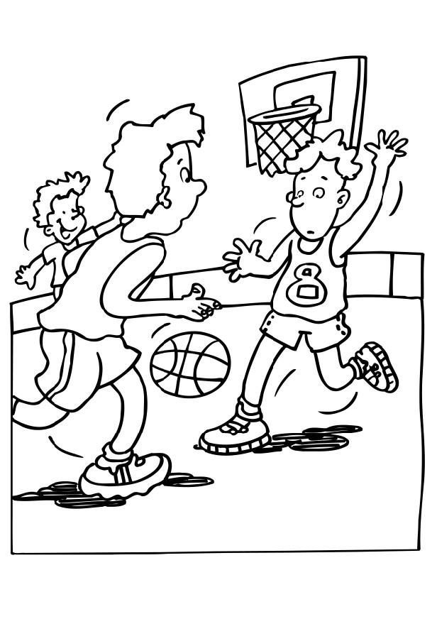 616x872 Basketball Court Coloring Pages