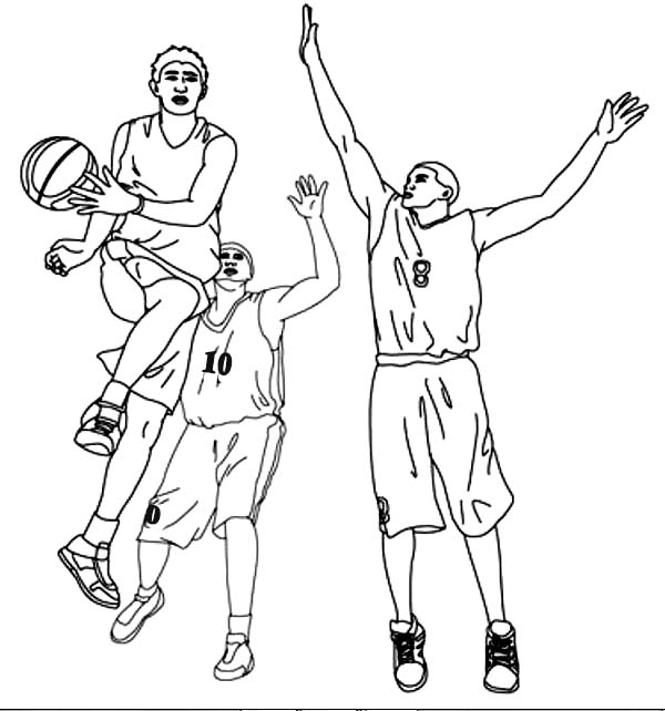600x642 Basketball Player Assist In Nba Coloring Page Color Luna