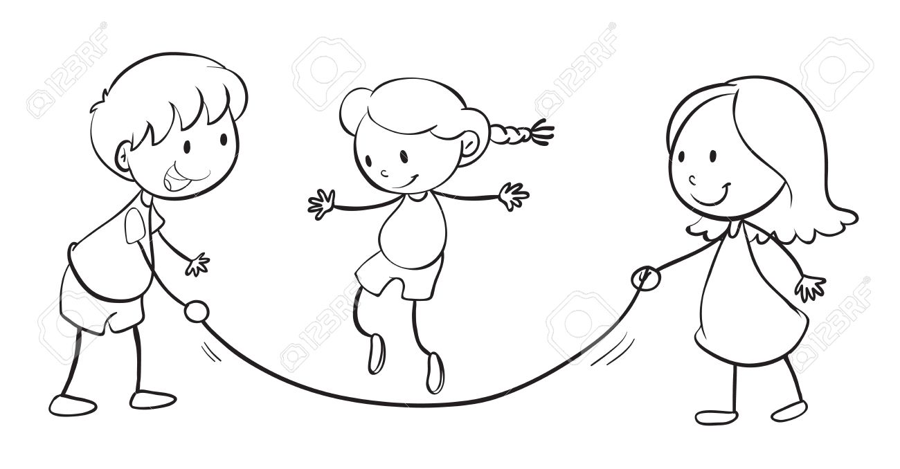1300x678 Detailed Illustration Of Kids Playing On A White Background