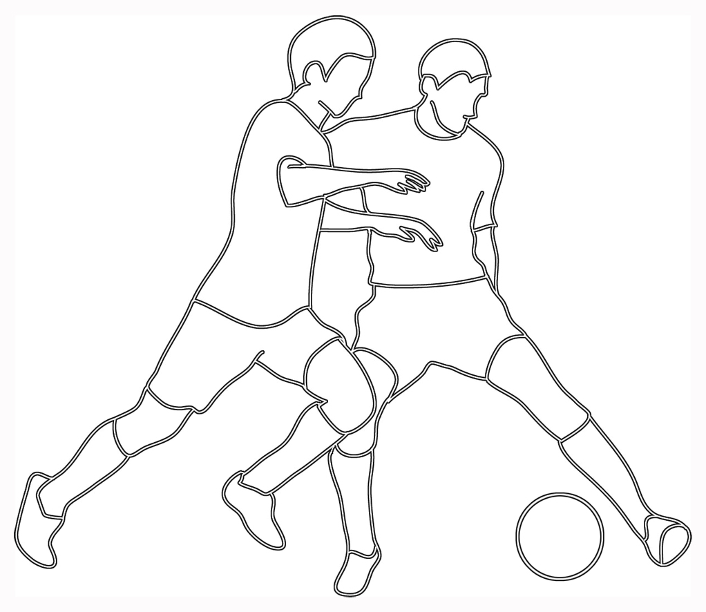 1022x886 Soccer Player Drawing Person Playing Soccer Clipart