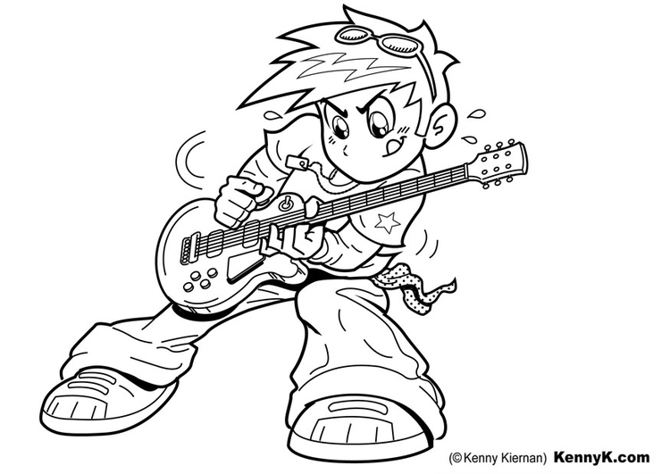 750x531 Coloring Page To Play Guitar