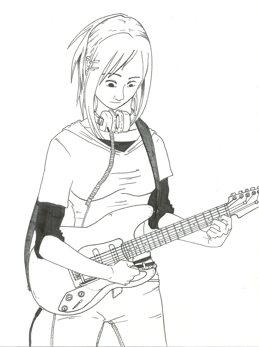 900x1205 Guitar Girl By Projectanonymus
