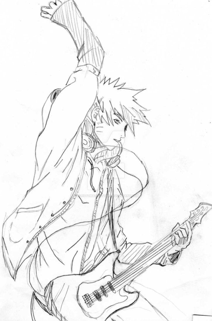 726x1099 Playing Guitar By Narutomadhatter
